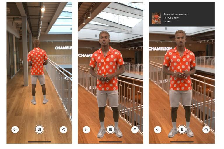 "When shopping for clothes online, we all want maximum visuals before we decide to splurge.Videos of models wearing product is helpful, but today ASOS has announced it's taking it one step further with the launch of an augmented reality experience within its shopping app.The 'Virtual Catwalk' will be available to anyone using the ASOS app on an iOS 11.3 device (and above) globally to see 100 new-in ASOS Design products.Just point your smartphone camera at any suitable flat surface and click the 'AR' button on the product page, and you'll be able to see a model, through your phone, as though they're walking along the surface in front of you.The technology has been developed in partnership with London-based augmented reality firm HoloMe.""By allowing the consumer to bring mobile shopping into their own physical space, we can create a more intimate buying experience,"" said Janosch Amstutz, CEO at HoloMe in a statement. ""We are excited to see how our technology can be used as a new way to communicate to the customer.""The test is part of ASOS' ongoing experimentation with new technology. In recent months, ASOS has launched an Action on Google Assistant, allowing customers to shop with just their voice, and has introduced an AI-driven Fit Assistant to help customers get the right size, first time. The online retailer is also trialling other AR features, including a tool which allows customers to view products on different size models, so customers can get a better sense of how something might fit their body shape.Will the Virtual Catwalk help us add to bag? Who knows, but summoning a three-dimensional model to walk along your coffee table could be quite fun."
