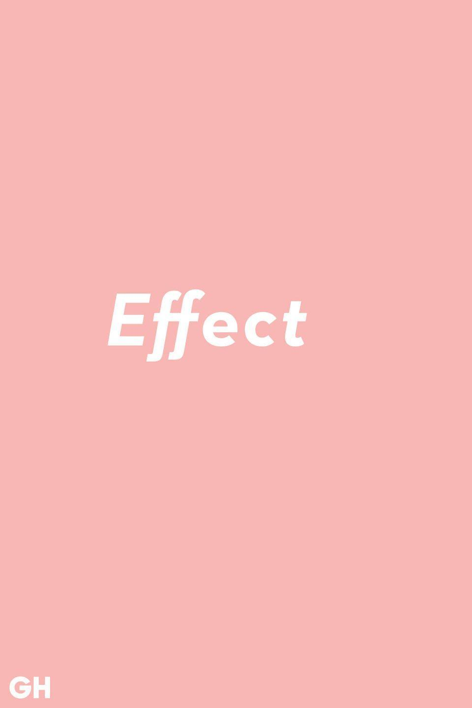"""<p>The simplest way to remember this one is that effect is a noun (ex: a special <strong>effect</strong>). Affect is the verb.</p><p><strong>RELATED:</strong> <a href=""""https://www.goodhousekeeping.com/life/g25712934/new-dictionary-words/"""" rel=""""nofollow noopener"""" target=""""_blank"""" data-ylk=""""slk:18 Words Added to the Dictionary in 2018"""" class=""""link rapid-noclick-resp"""">18 Words Added to the Dictionary in 2018</a></p>"""