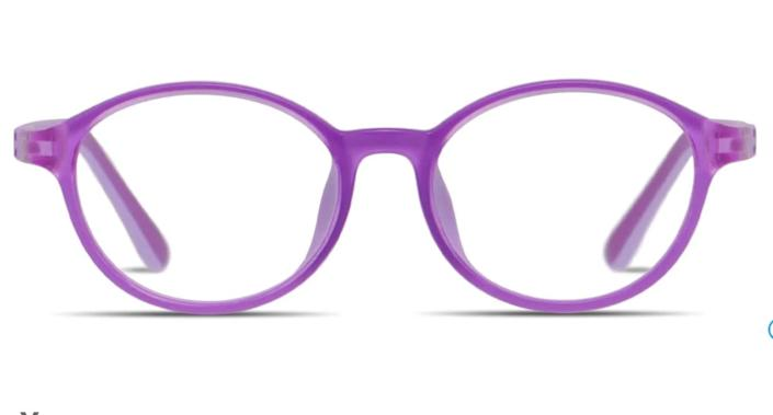 """You can find these rounded <a href=""""https://fave.co/3fULHbH"""" rel=""""nofollow noopener"""" target=""""_blank"""" data-ylk=""""slk:kids blue light-blocking glasses"""" class=""""link rapid-noclick-resp"""">kids blue light-blocking glasses</a> in seven colors. Find them for $46 at <a href=""""https://fave.co/3fULHbH"""" rel=""""nofollow noopener"""" target=""""_blank"""" data-ylk=""""slk:Glasses USA"""" class=""""link rapid-noclick-resp"""">Glasses USA</a>."""
