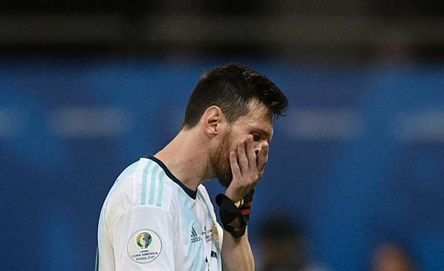 Lionel Messi had an anonymous first half and failed to spark Argentina after the break in a 2-0 Copa America defeat to Colombia (AFP Photo/Juan MABROMATA)