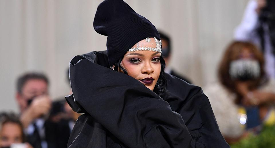 Everything you need to know about Rihanna's Met Gala beauty look. (Getty Images)