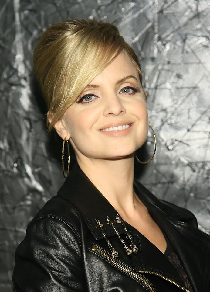 NEW YORK, NY - MAY 15:  Mena Suvari attends the Versus Versace launch hosted by Donatella Versace at the Lexington Avenue Armory on May 15, 2013 in New York City.  (Photo by Astrid Stawiarz/Getty Images)