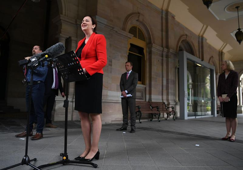 Queensland Premier Annastacia Palaszczuk has maintained the states borders will remain closed to keep residents safe. Source: AAP