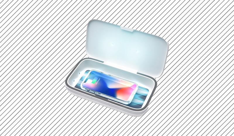The sanitizer destroys 99.9 percent of germs that live on your phone. (Photo: Casetify)