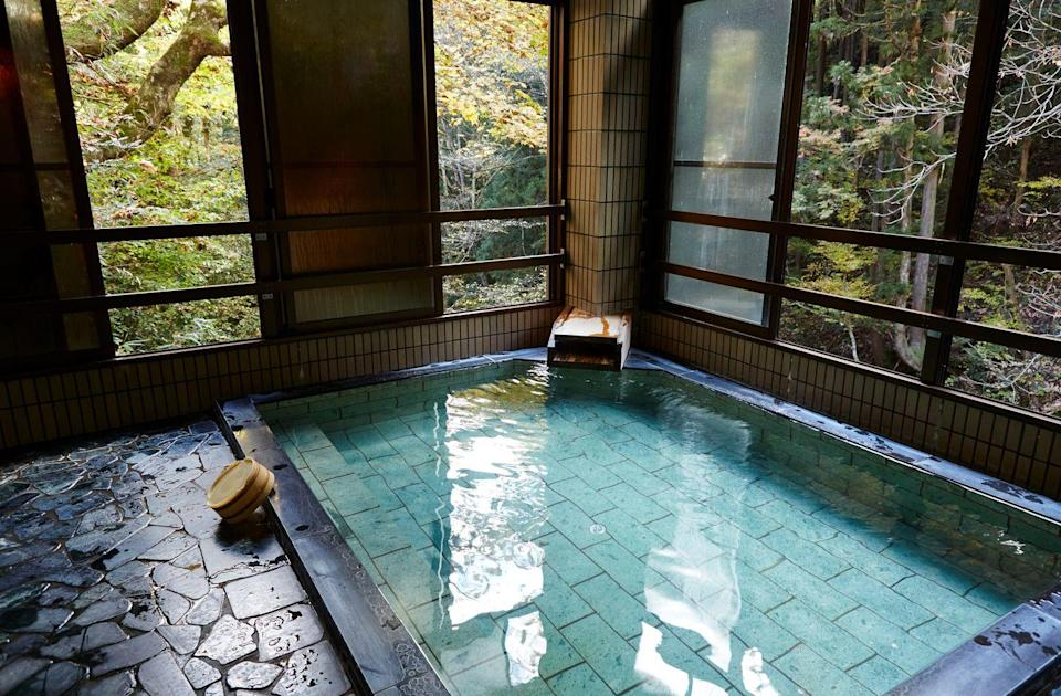"""<p>Japan's volcanic activity means that its natural hot springs are bountiful, even in a sprawling metropolis like Tokyo, where geothermal cures await a few miles below ground. Choose from traditional public baths, stylish sentos (communal bathhouses) like <a href=""""http://kohmeisen.com/nice/english.html"""" rel=""""nofollow noopener"""" target=""""_blank"""" data-ylk=""""slk:Kohmeisen"""" class=""""link rapid-noclick-resp"""">Kohmeisen</a> or <a href=""""http://konparuyu.com/"""" rel=""""nofollow noopener"""" target=""""_blank"""" data-ylk=""""slk:Konparu-yu"""" class=""""link rapid-noclick-resp"""">Konparu-yu</a>, which has been healing the people of Ginza since 1863, midnight dips at open-all-hours <a href=""""https://thermae-yu.jp/"""" rel=""""nofollow noopener"""" target=""""_blank"""" data-ylk=""""slk:Thermae Yu"""" class=""""link rapid-noclick-resp"""">Thermae Yu</a>; or full-blown theme-park onsen complexes, such as <a href=""""https://daiba.ooedoonsen.jp/en/"""" rel=""""nofollow noopener"""" target=""""_blank"""" data-ylk=""""slk:Oedo Onsen Monogatori"""" class=""""link rapid-noclick-resp"""">Oedo Onsen Monogatori</a>.</p>"""