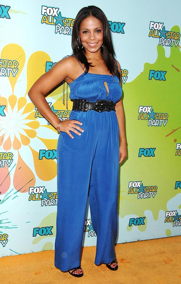 "Could the gorgeous Sanaa Lathan have worn anything less flattering than the blue belted jumpsuit she sported the other night at the FOX All-Star party? Steve Granitz/<a href=""http://www.wireimage.com"" target=""new"">WireImage.com</a> - August 6, 2009"