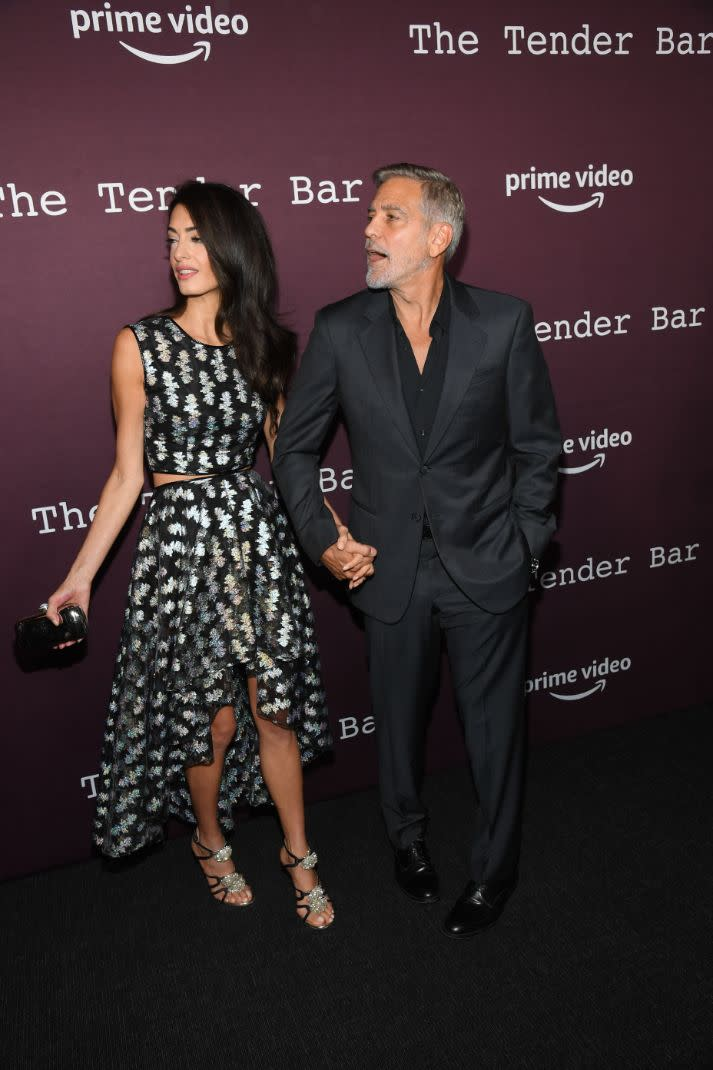 George Clooney and Amal Clooney at the Tastemakers event for & # x002018; Tender Bar & # x002019;  at the Directors Guild of America in Los Angeles on October 3, 2021. - Credit: Michael Buckner for Variety