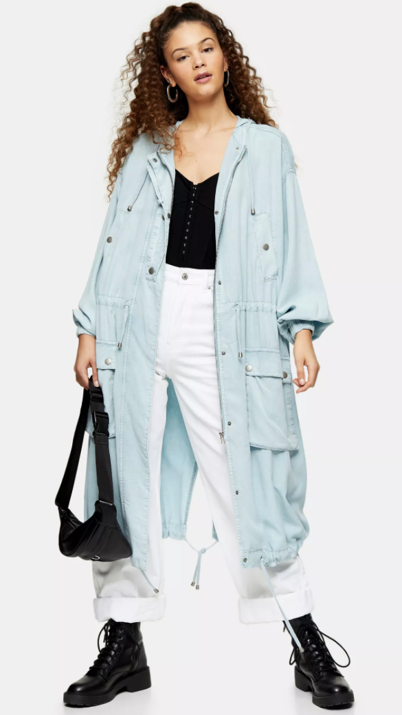 """<p><strong>Top Shop</strong></p><p>topshop.com</p><p><strong>$125.00</strong></p><p><a href=""""https://go.redirectingat.com?id=74968X1596630&url=https%3A%2F%2Fus.topshop.com%2Fen%2Ftsus%2Fproduct%2Flwashed-anorak-9630292&sref=https%3A%2F%2Fwww.goodhousekeeping.com%2Fbeauty%2Ffashion%2Fg32585880%2Frainy-day-outfits%2F"""" rel=""""nofollow noopener"""" target=""""_blank"""" data-ylk=""""slk:Shop Now"""" class=""""link rapid-noclick-resp"""">Shop Now</a></p><p>Tame that wicked weather with a long, utilitarian anorak in a pastel color. Enough pockets to load up with all your stuff and cinch pulls to protect your from the elements. A soft henley, white jeans, and a <a href=""""https://www.goodhousekeeping.com/clothing/g30646155/cute-combat-boots/"""" rel=""""nofollow noopener"""" target=""""_blank"""" data-ylk=""""slk:combat boot"""" class=""""link rapid-noclick-resp"""">combat boot </a>will help you navigate any storm.</p>"""