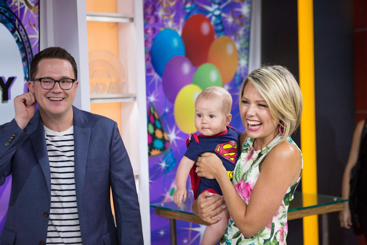 "<p>The <em>Today</em> show meteorologist and third-hour coanchor welcomed her second child, a boy named Oliver George, with husband Brian Fichera. Their oldest son, Calvin (pictured above), is three years old. <a href=""https://people.com/parents/today-dylan-dreyer-welcomes-son/""><em>People</em> has photos</a> of the newborn. </p> <p>In October 2019, Dreyer opened up <a href=""https://www.glamour.com/story/dylan-dreyer-opening-up-about-my-miscarriage-changed-everything?mbid=synd_yahoo_rss"">to <em>Glamour</em></a> about experiencing a miscarriage. ""These moments—miscarriage and infertility—are hard enough on their own without the added shame of silence,"" she said. ""These are moments when your mind is going crazy, when you <em>need</em> to talk about it.""</p>"