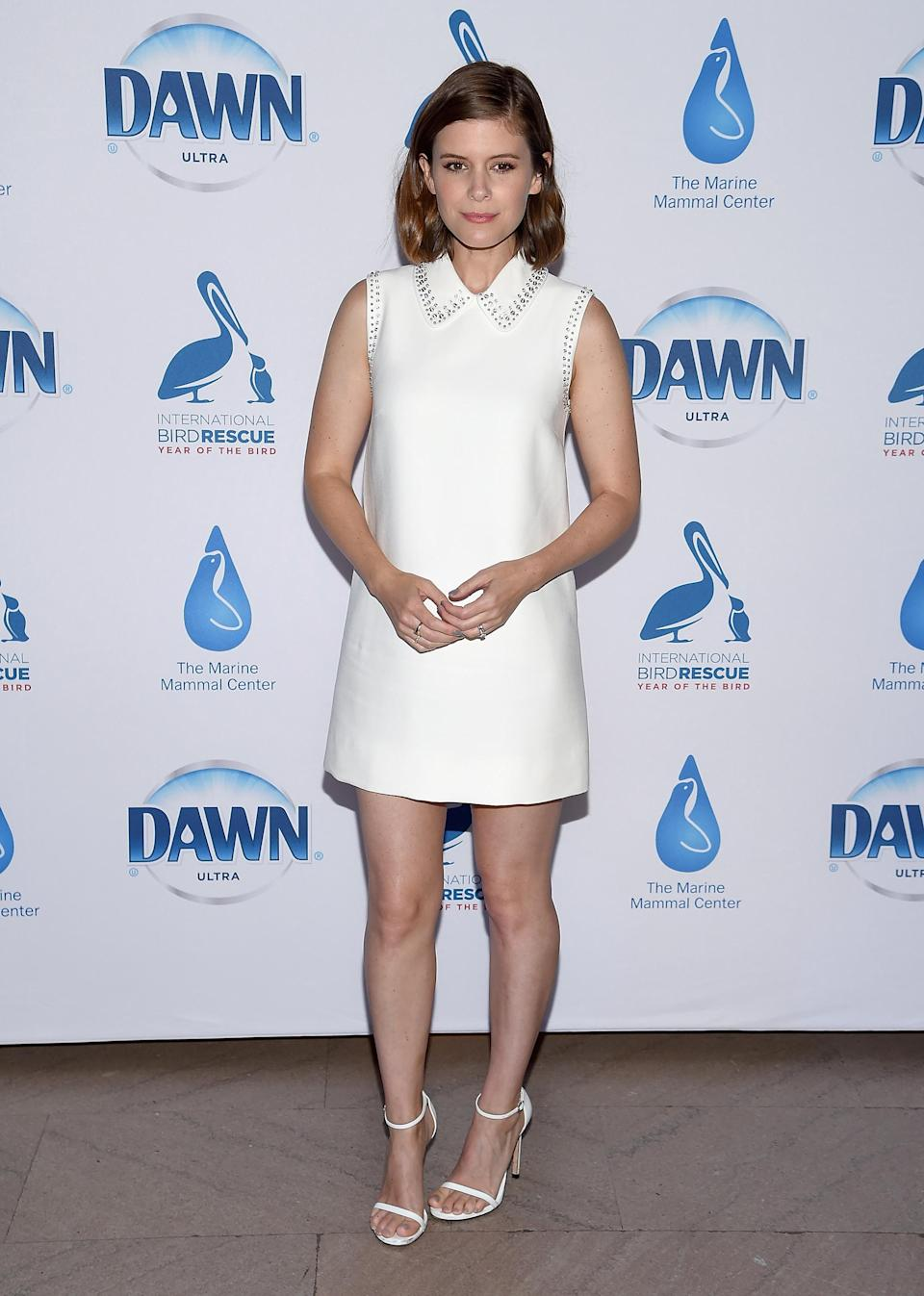 <p>On 19 July, actress Kate Mara chose a collared mini dress for Dawn's Wildlife Initiative event at Grand Central Station. <em>[Photo: Getty]</em> </p>