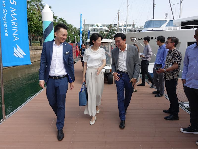 A new Customs, Immigration, Quarantine (CIQ) facility at ONE°15 Marina Sentosa Cove Singapore was officially launched by Senior Parliamentary Secretary Sun Xue Ling on Friday, 2 August 2019. PHOTO: Marina Sentosa Cove