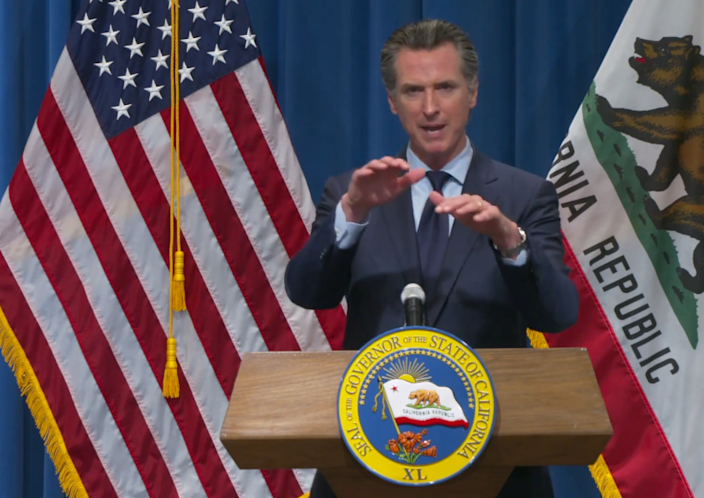 California Gov. Gavin Newsom's revised 2020-21 budget includes a reduction of $54.3 billion from the proposal released in January. He presented his plan on Thursday.