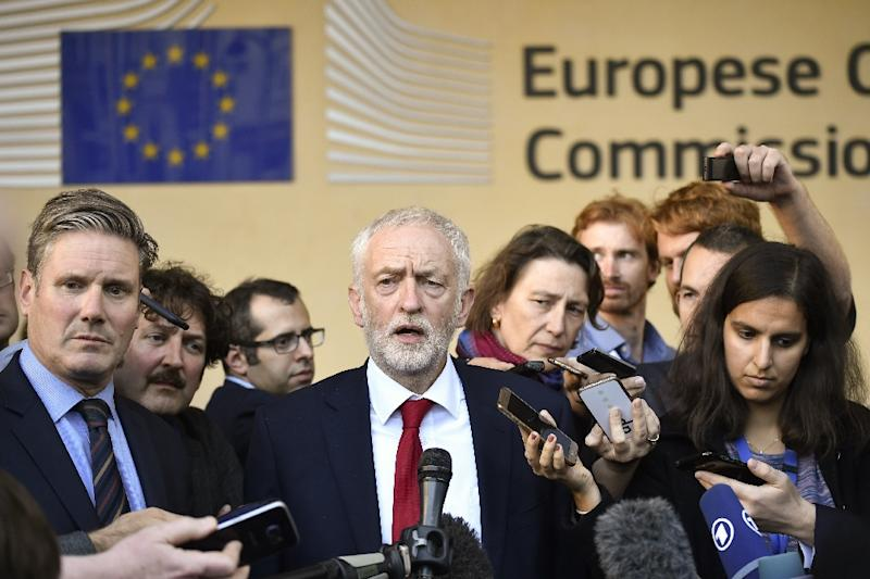 Labour Party leader Jeremy Corbyn said he set out Labour's view of Brexit issues in meetings with EU officials