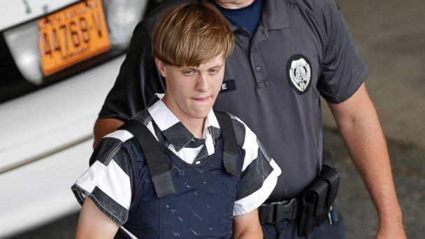 PHOTO:Dylann Roof is escorted from the Cleveland County Courthouse in Shelby, North Carolina in this June 18, 2015 file photo. (Chuck Burton/AP Photo)