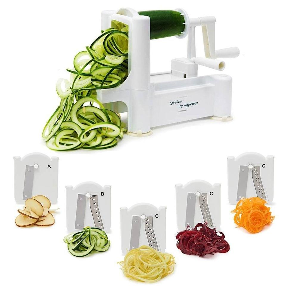 <p>This <span>Spiralizer Vegetable Slicer</span> ($14) will help them cook and prepare vegetables in many different ways.</p>
