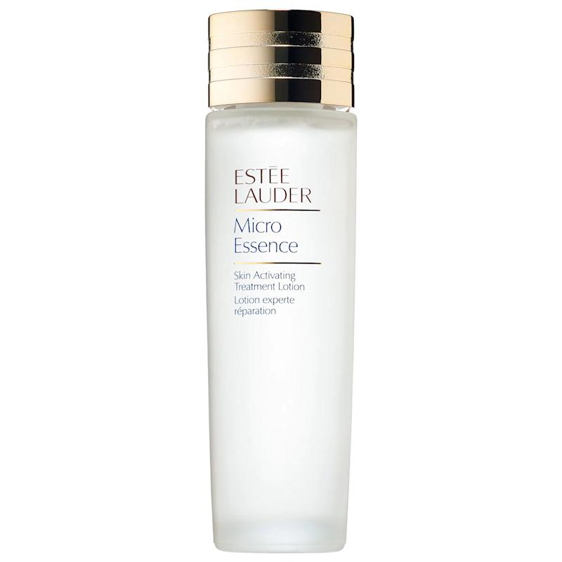 Estee Lauder Micro Essence Skin Activating Treatment Lotion Fresh with Sakura Ferment. Image via Sephora