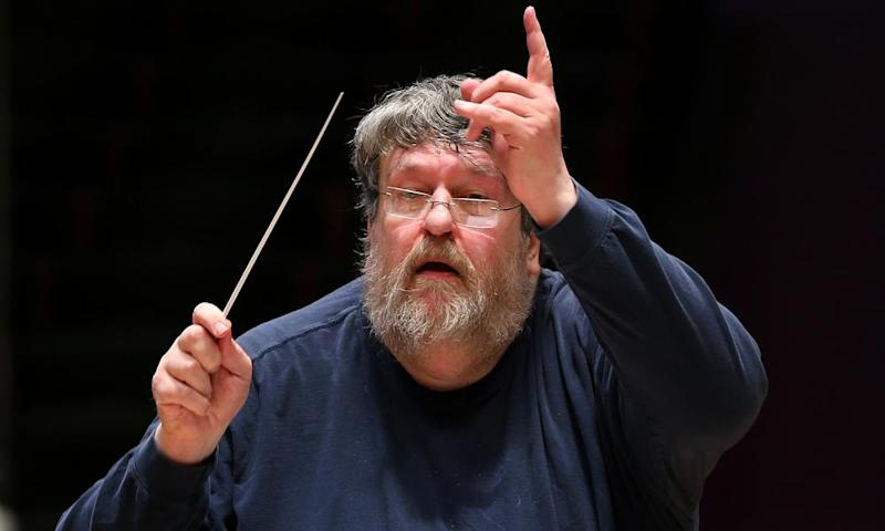 The conductor Oliver Knussen.
