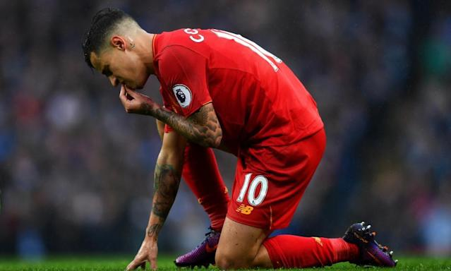 "<span class=""element-image__caption"">Liverpool midfielder Philippe Coutinho has been identified as a potential replacement for Andrés Iniesta at Barcelona. </span> <span class=""element-image__credit"">Photograph: Michael Regan/Getty Images</span>"