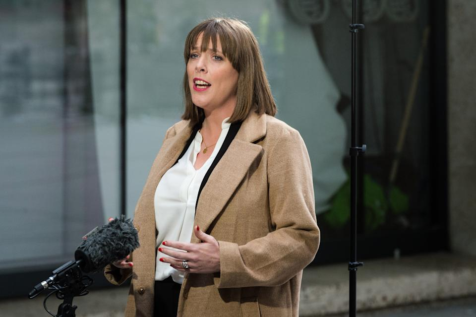 Labour Party MP Jess Phillips speaks to the media outside the BBC Broadcasting House in central London after appearing on The Andrew Marr Show on 05 January, 2020 in London, England. Jess Phillips declared her candidacy in the race for Labour Party leadership which is due to begin next week. (Photo by WIktor Szymanowicz/NurPhoto via Getty Images)
