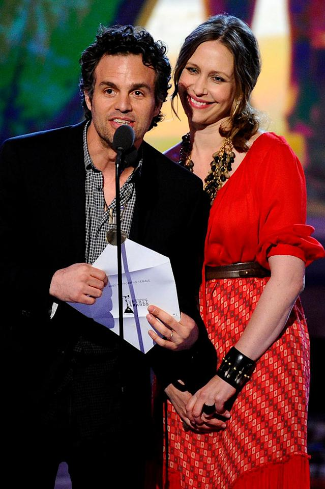 "WORST: Ruffalo and Farmiga's Opening Remarks — After Mark Ruffalo slid in on the slippery stage, neither he nor Vera Farmiga said anything for 20 seconds, then Ruffalo talked about how great independent film is and that, regardless of who won, all of the films are winners. Apparently, the Spirit Awards are like the Special Olympics. <a href=""http://www.televisionwithoutpity.com/show/award_shows/independent_spirit_awards_2011.php?__source=tw