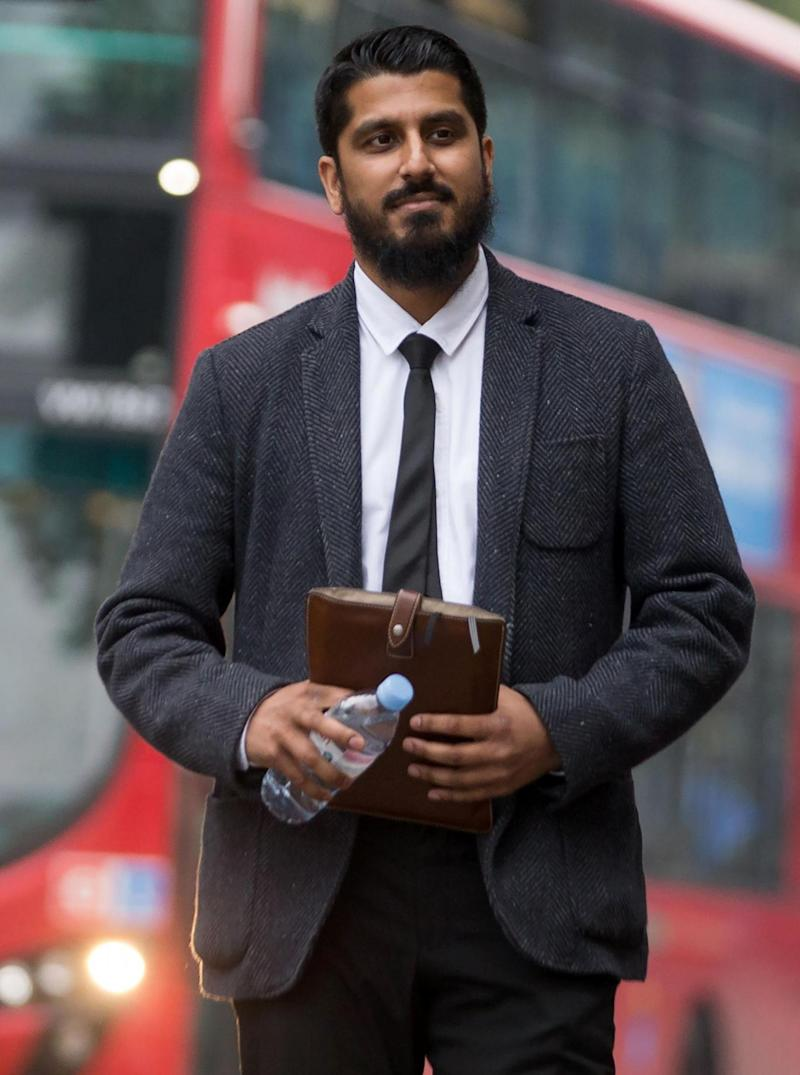 Muhammad Rabbani arrives at Westminster Magistrates' Court (AFP/Getty Images)