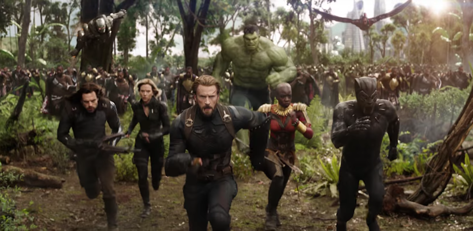 How many characters are in Avengers: Infinity War?