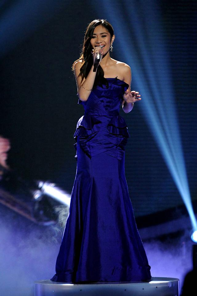 "Jessica Sanchez performs ""My All"" by Mariah Carey on ""<a target=""_blank"" href=""http://tv.yahoo.com/american-idol/show/34934"">American Idol</a>."""