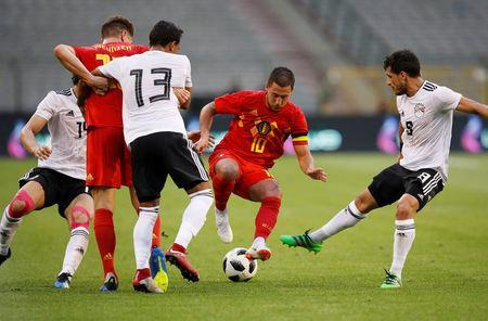 Soccer Football - International Friendly - Belgium vs Egypt - King Baudouin Stadium, Brussels, Belgium - June 6, 2018 Belgium's Eden Hazard in action REUTERS/Francois Lenoir