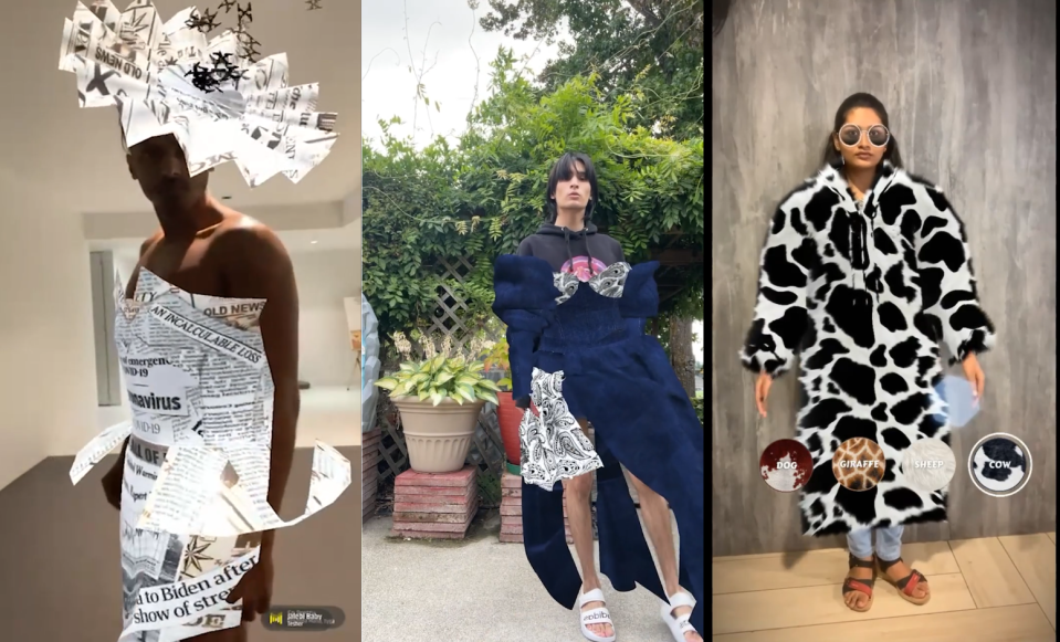 New Snapchat augmented reality lenses will drop at the start of every fashion week. Pictured: Lenses for Paris, London and New York. - Credit: Courtesy image