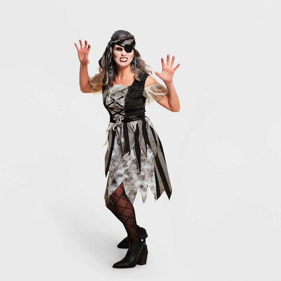 <p>Embrace the pirate life with this eerie <span>Hyde &amp; EEK! Boutique Adult Pirate Halloween Costume Dress</span> ($35). Go forth and find that treasure!</p>