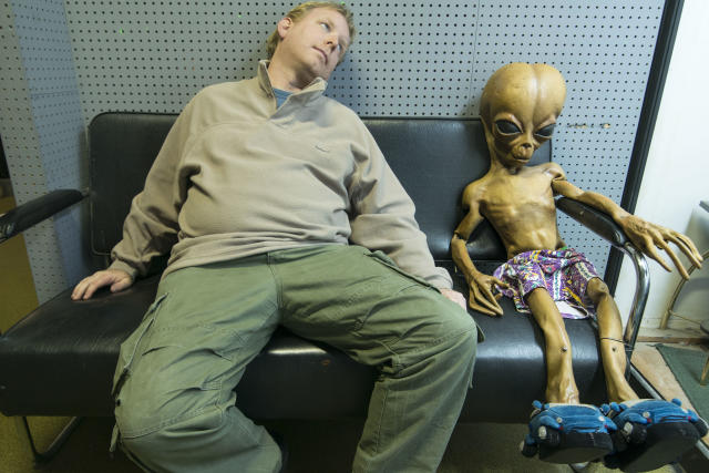 "<p><span>Chris, a freelance photography director, said: ""I was in Roswell as part of a road trip that started because of a cheap flight."" </span>(Photo: Chris Burton/Caters News) </p>"