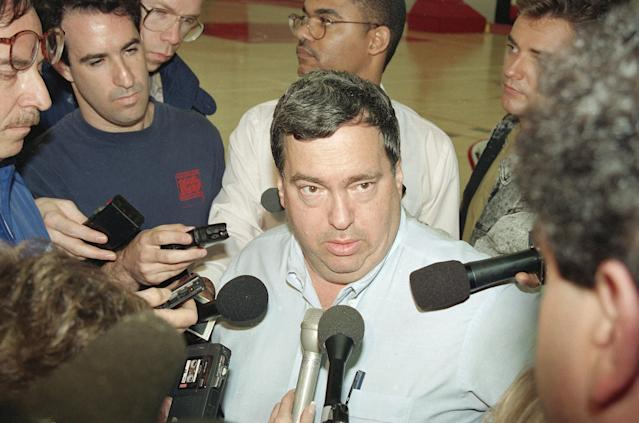 Jerry Krause reportedly wanted to replace Michael Jordan with three Hall-of-Famers. If true, it didn't work out. (AP Photo/Fred Jewell)