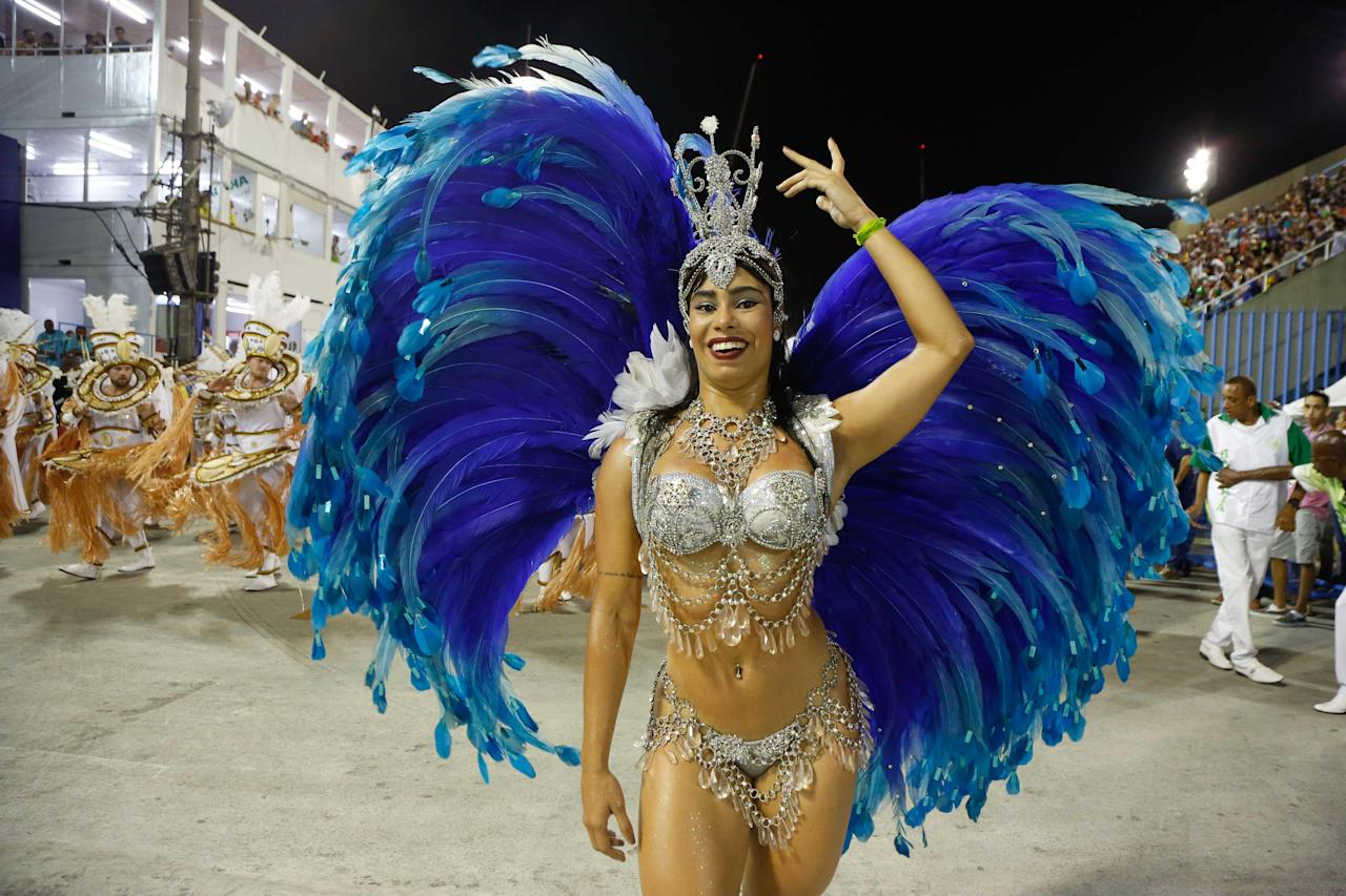 <p>Dancers are descending on Rio and Sao Paolo for the famed samba parades.</p>
