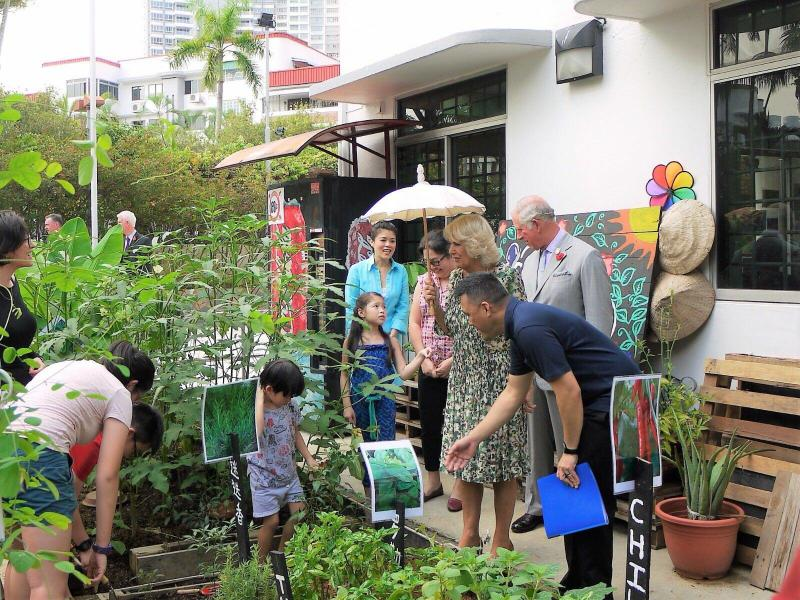 His Royal Highness Prince Charles and Duchess of Cornwall's visit at the garden last 1 November 2017. (PHOTO: Community Garden at Tiong Bahru)