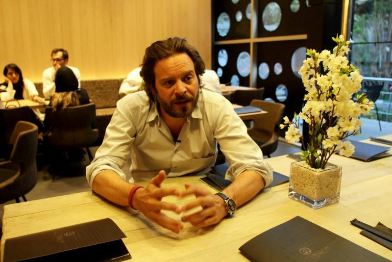 French entrepreneur Amaury de la Serre, who has opened a high-end French sushi chain in northern Tehran