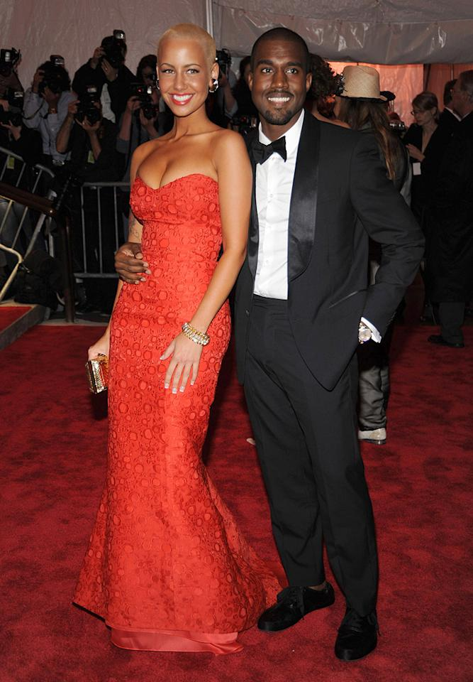 "Kanye West and his girlfriend Amber Rose were all smiles. They kind of make (dare we say) a cute couple! Kevin Mazur/<a href=""http://www.wireimage.com"" target=""new"">WireImage.com</a> - May 4, 2009"