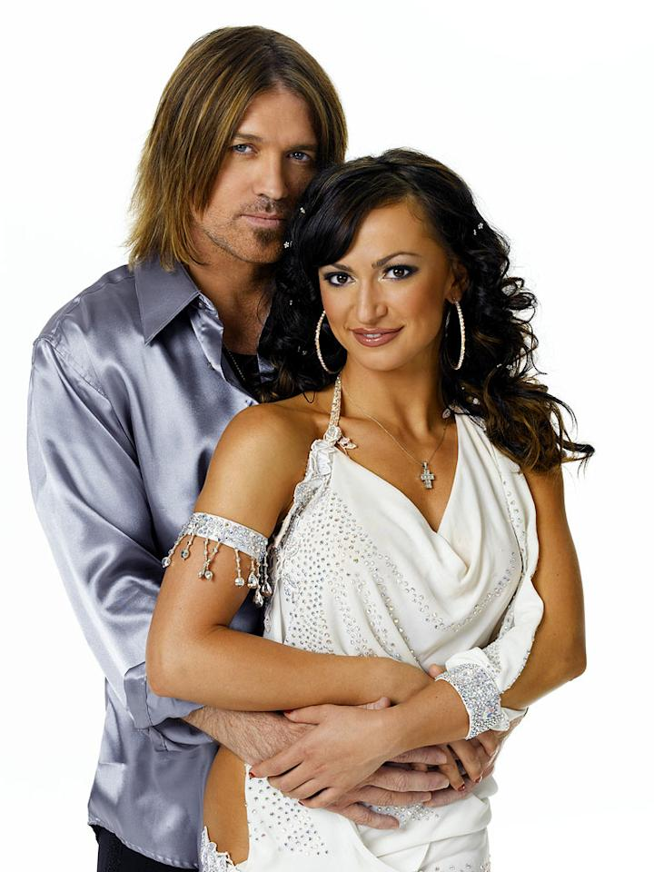 "Singer/songwriter/actor and star of Disney Channel's hit series ""Hannah Montana,"" <a href=""/billy-cyrus/contributor/304519"">Billy Ray Cyrus</a> teams up with professional dancer <a href=""/karina-smirnoff/contributor/2234322"">Karina Smirnoff</a> for Season 4 of <a href=""/dancing-with-the-stars/show/38356"">Dancing with the Stars</a>"