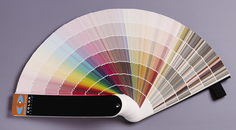 This Image Provided By Benjamin Moore Shows A Fan Deck Of Paint Colors That Consumers Can