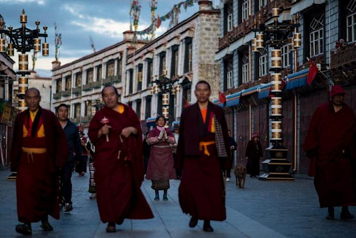 Beijing continues to be accused of political and religious repression in Tibet, but insists people there enjoy extensive freedoms and economic growth (AFP Photo/JOHANNES EISELE)