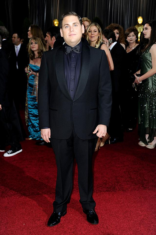 HOLLYWOOD, CA - FEBRUARY 26: Actor Jonah Hill  arrives at the 84th Annual Academy Awards held at the Hollywood & Highland Center on February 26, 2012 in Hollywood, California.  (Photo by Frazer Harrison/Getty Images)