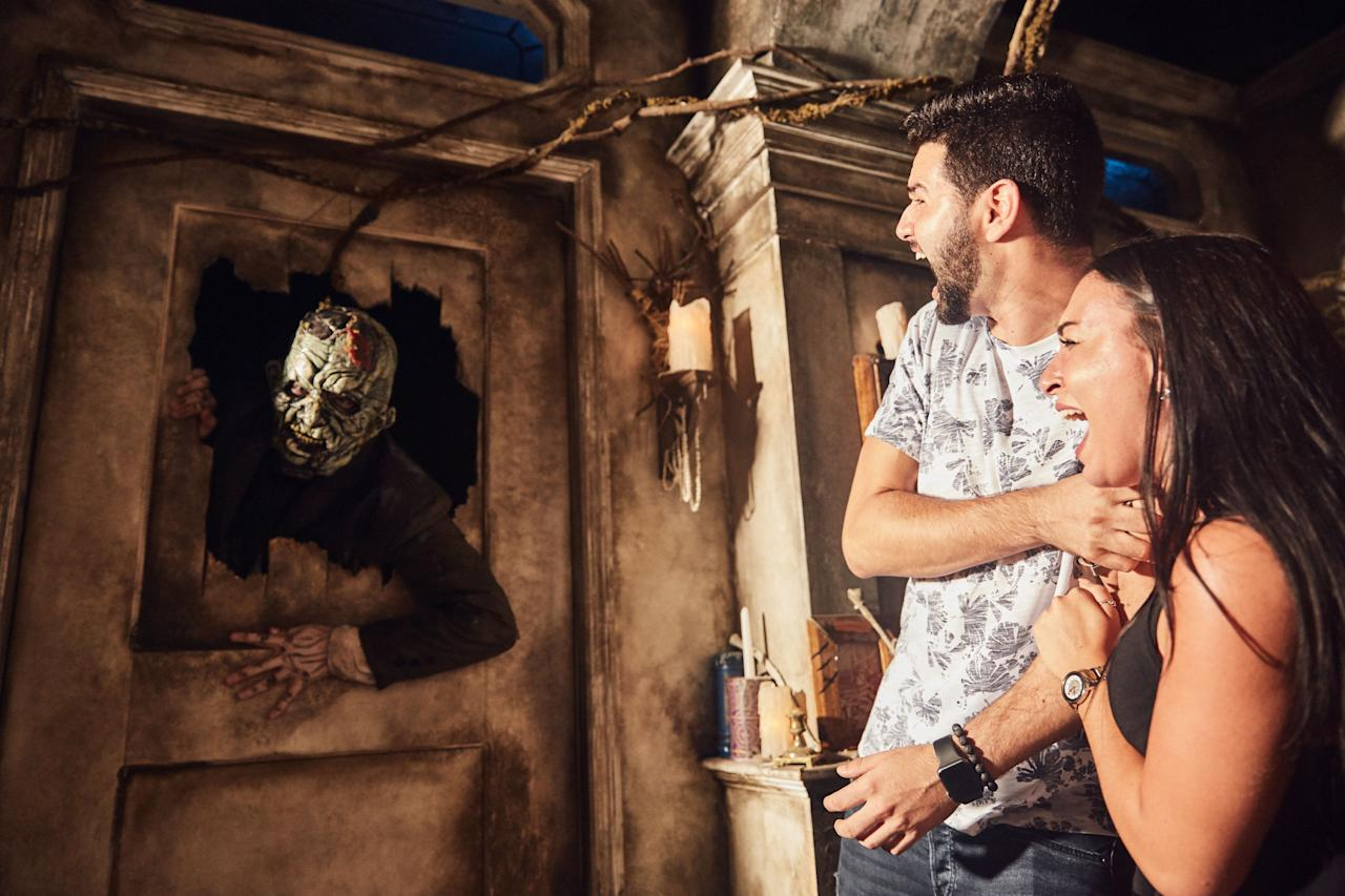 """<p><a rel=""""nofollow"""" href=""""http://www.halloweenhorrornights.com/orlando/tickets.php"""">Universal Studios</a> has been at the horror night game for 27 years, amassing a cult-like following with true horror buffs queueing its lines year after year. Meander through nine haunted houses and mazes (these aren't for the faint of heart!), including five original Universal creations and four based off beloved horror TV/films, like <i>American Horror Story</i>, <i>Saw</i>, and Blumhouse films (<i>The Purge</i>, <i>Insidious</i>, etc.) Be sure to check in at the Overlook Hotel to jumpscare your way through <i>The Shining </i>and watch as Danny slowly descends into madness. As you make your way from one house to the next, you'll pass through scare zones filled with extraterrestrials, clowns wielding chainsaws, and <i>Trick 'r Treat</i>'s cute-yet-vengeful-Sam. Horror nerds, keep your eye peeled: Easter eggs are strewn throughout, including a peek at a scenes from the <i>Saw</i> franchise's upcoming <em>JIGSAW</em>.</p><p>Another bonus: Hit the non-Horror Night rides (Wizarding World of Harry Potter, anyone?) at this time to breeze right to the front.</p><p>Tickets from $59.99. Runs Sept. 15-Nov. 4<br></p>"""