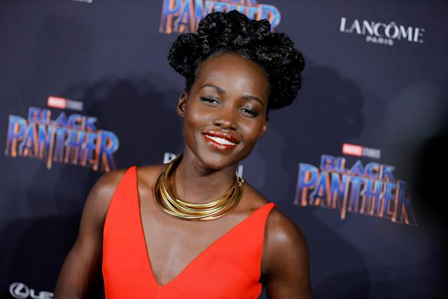 Lupita Nyong'o promotes 'Black Panther' in New York City. (Photo: Getty Images)