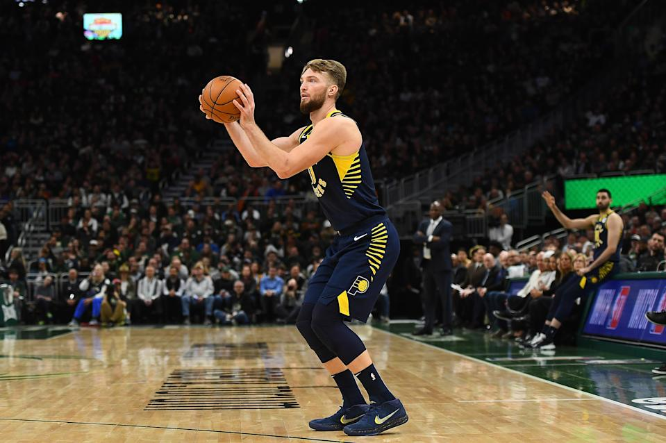 """There is """"no expectation"""" Damontas Sabonis will rejoin the Pacers' active roster in Florida. (Stacy Revere/Getty Images)"""