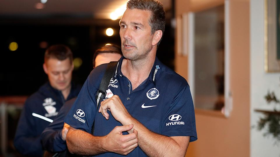 Carlton great Stephen Silvagni is pictured after the 2018 AFL Draft.