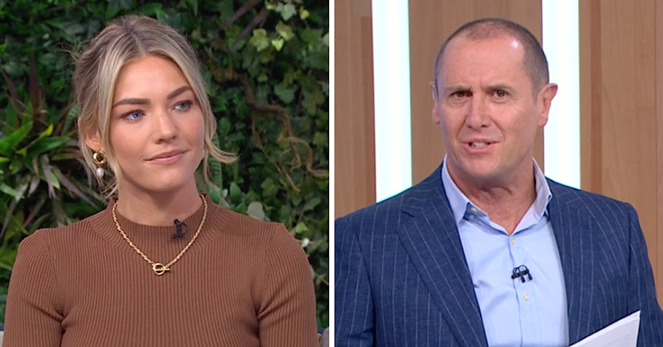 Home and Away Sam Frost and Larry Emdur on The Morning Show.