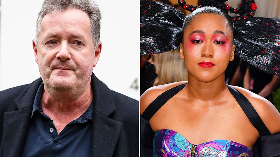 Pictured here, Piers Morgan and Naomi Osaka.