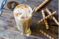 """<p>Make the most of pumpkin ice cream by turning it into an ice cream float! Root beer is our favorite pairing for this recipe.</p><p><strong><a href=""""https://thepioneerwoman.com/food-and-friends/pumpkin-ice-cream-floats-2-ways/"""" rel=""""nofollow noopener"""" target=""""_blank"""" data-ylk=""""slk:Get the recipe"""" class=""""link rapid-noclick-resp"""">Get the recipe</a>.</strong></p><p><strong><a class=""""link rapid-noclick-resp"""" href=""""https://go.redirectingat.com?id=74968X1596630&url=https%3A%2F%2Fwww.walmart.com%2Fip%2FThe-Pioneer-Woman-Adeline-16-Ounce-Emboss-Glass-Tumblers-Set-of-4%2F46040012&sref=https%3A%2F%2Fwww.thepioneerwoman.com%2Ffood-cooking%2Fmeals-menus%2Fg32110899%2Fbest-halloween-desserts%2F"""" rel=""""nofollow noopener"""" target=""""_blank"""" data-ylk=""""slk:SHOP DRINKING GLASSES"""">SHOP DRINKING GLASSES</a><br></strong></p>"""