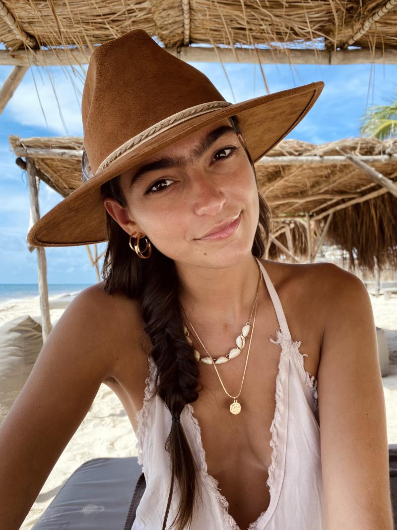 Model Haylee Michalski has opened up about how she's 'mocked' for growing out her unibrow. Photo: MediaDrumWorld/Australscope.