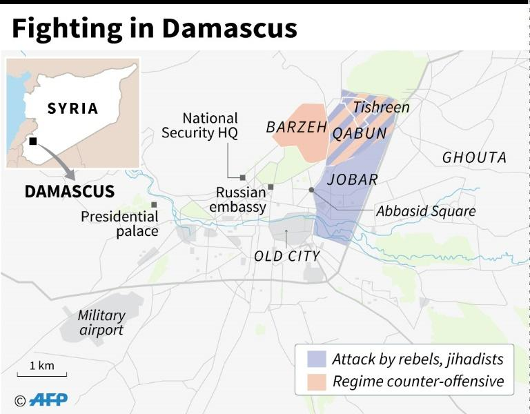 Fighting in Damascus