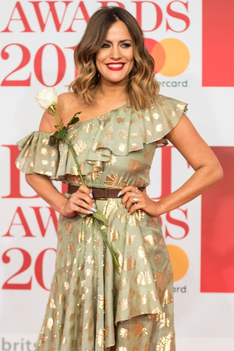 Caroline Flack at the Brit Awards in 2018 (Photo: Vianney Le Caer/Invision/AP)